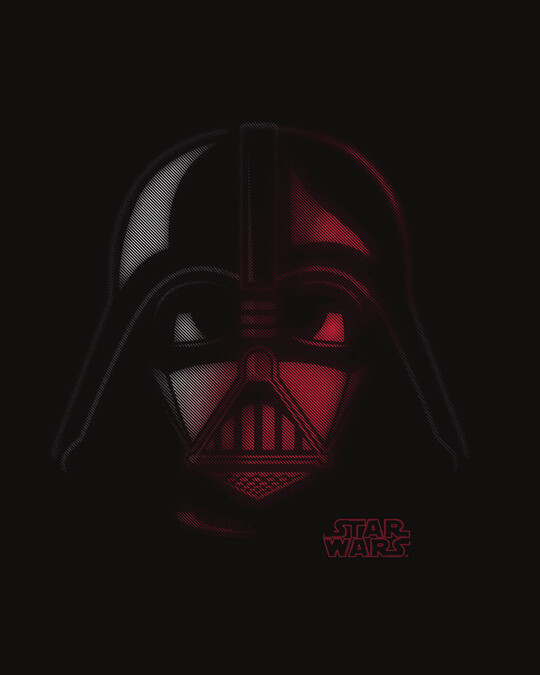 Shop Vader Out Of Darkness Half Sleeve T-Shirt (SWL)-Full