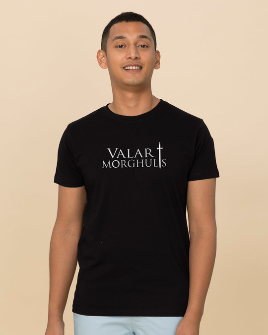Shop Valar Morghulis Half Sleeve T-Shirt (GTL)-Back