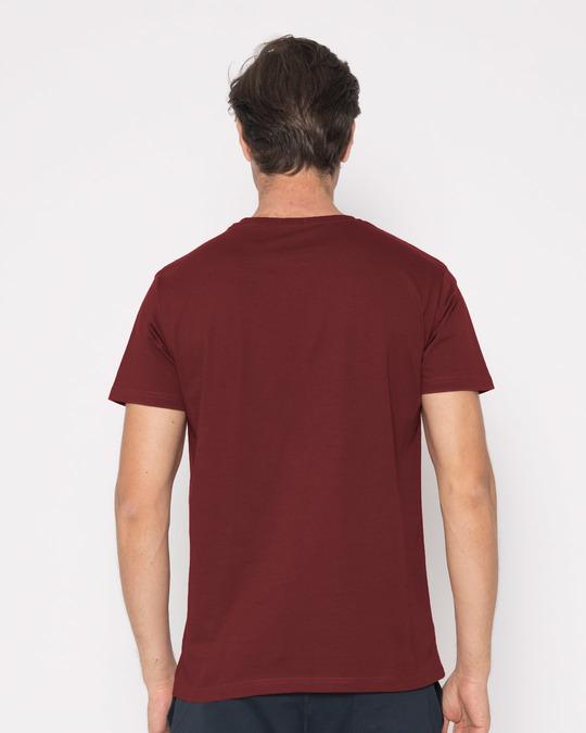 Buy varsity maroon t shirt men 39 s t shirt online india for Maroon t shirt for men