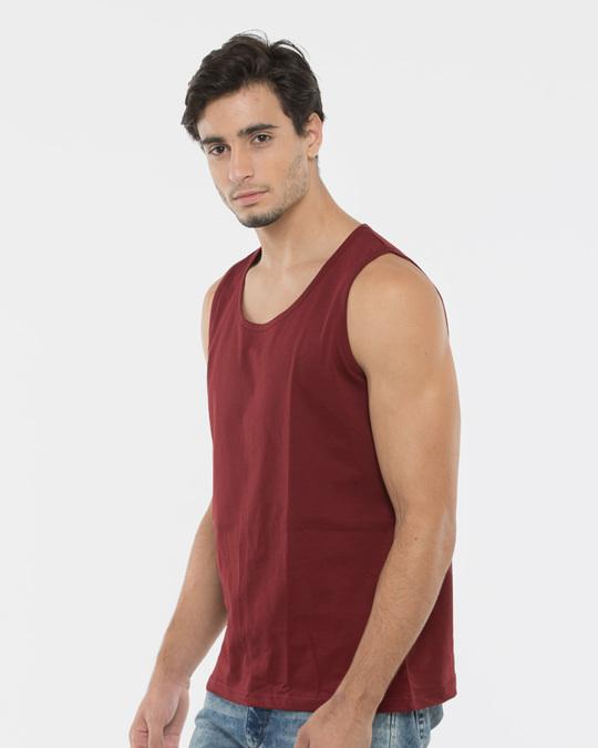 Shop Varsity Maroon Vest-Front