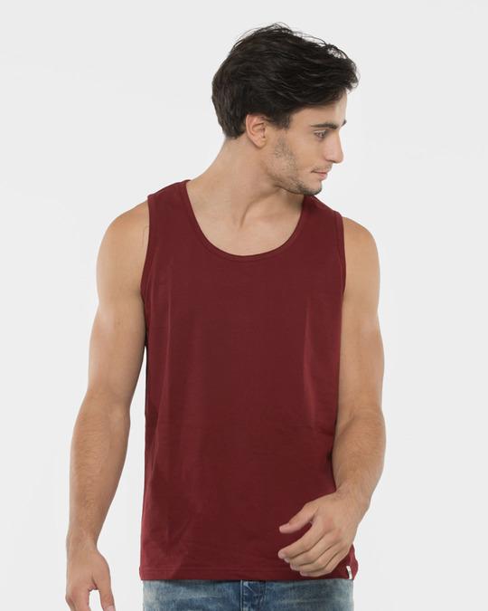 Shop Varsity Maroon Vest-Back