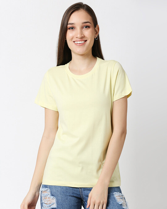 Shop Vax Yellow Half Sleeve Relaxed Fit T-Shirt-Front