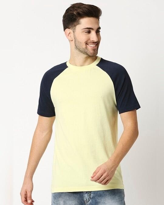 Shop Vax Yellow Raglan Half Sleeves T-Shirt-Back