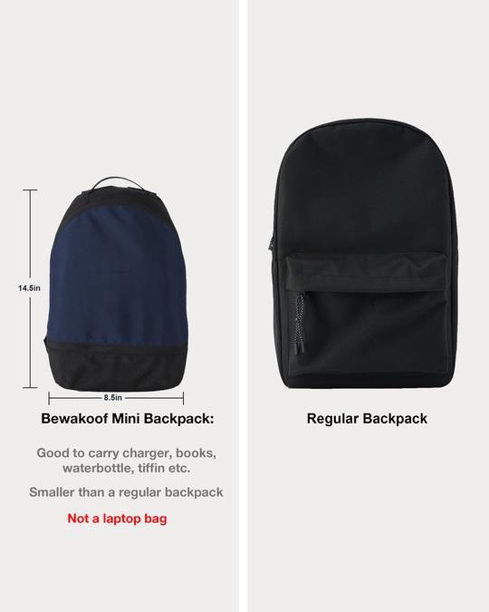 Shop Vector Blue-Michigan Black Plain Essential Mini Backpack-Design