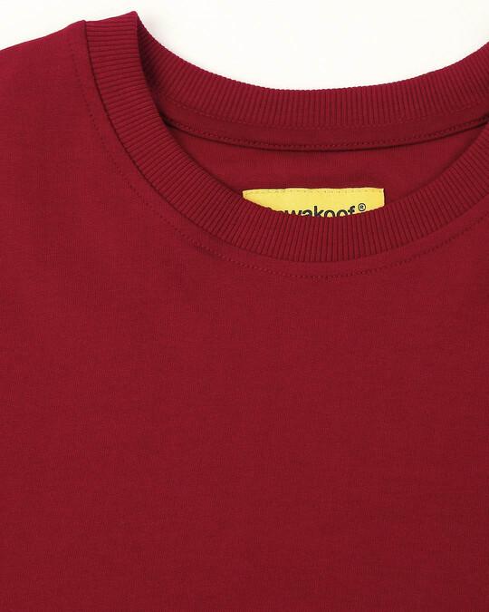 Shop Cherry Red Sports Trim Fleece Sweater