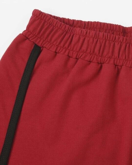 Shop Cherry Red Plain Shorts