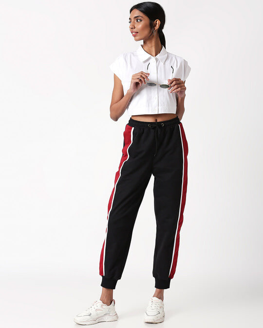 Shop Cherry Red Side Panel Jogger