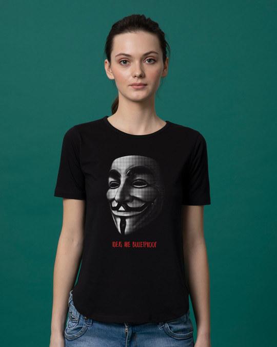 Shop Vendetta Bulletproof Basic Round Hem T-Shirt-Front