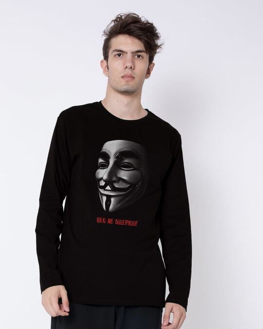 Shop Vendetta Bulletproof Full Sleeve T-Shirt-Front