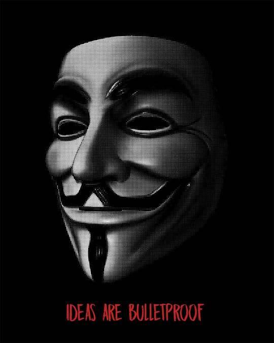 Shop Vendetta Bulletproof Round Neck 3/4th Sleeve T-Shirt