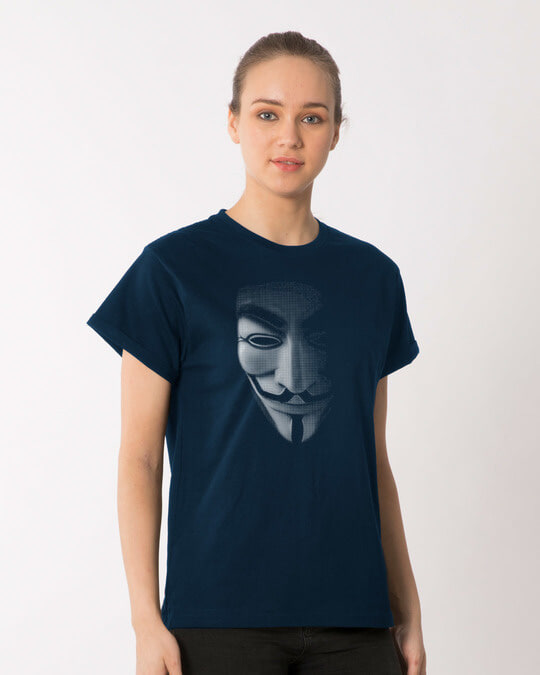 Shop Vendetta Shadows Boyfriend T-Shirt-Back
