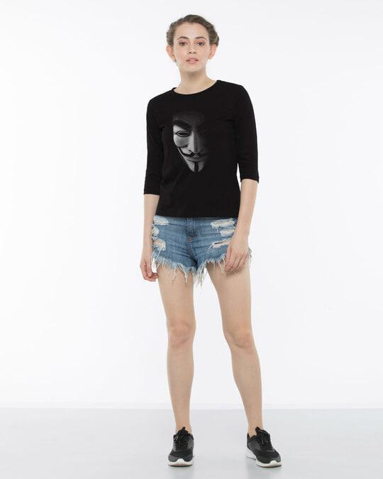 Shop Vendetta Shadows Round Neck 3/4th Sleeve T-Shirt
