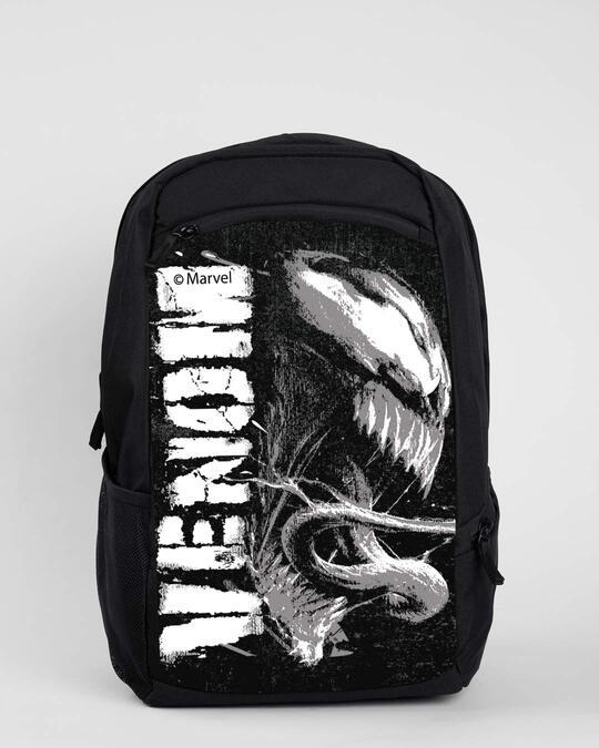 Shop Venom Char (SPL) Laptop Backpack Black-Front