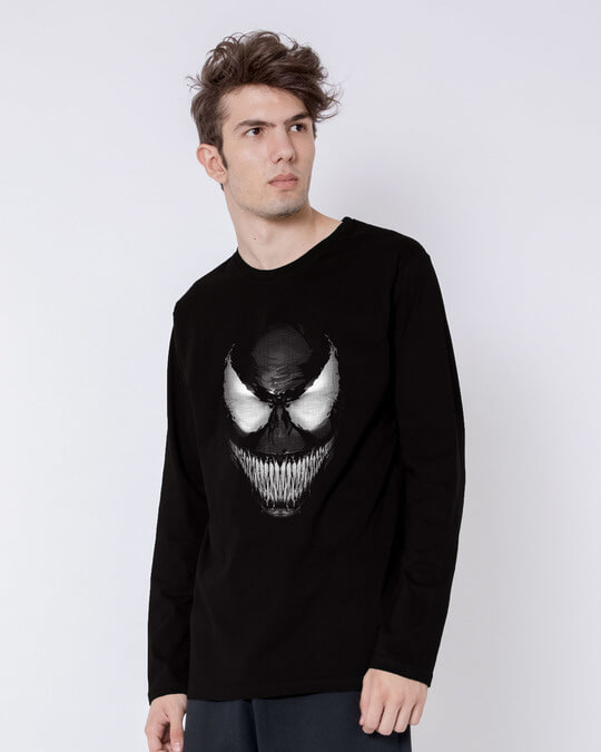 Shop Venom Dark Full Sleeve T-Shirt (SPL)-Back