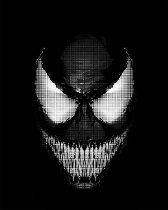 Shop Venom Dark Round Neck 3/4th Sleeve T-Shirt (SPL)