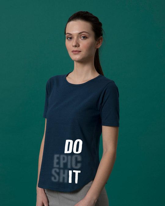 Shop Very Epic Basic Round Hem T-Shirt-Back