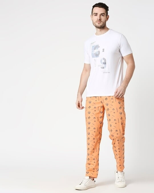 Shop Orange Rush AOP Pyjama