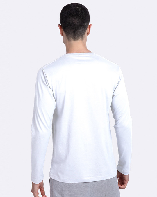 Shop Victorious Full Sleeve T-Shirt White-Back