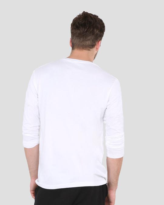Shop Victory Over Evil Full Sleeve T-Shirt White-Back