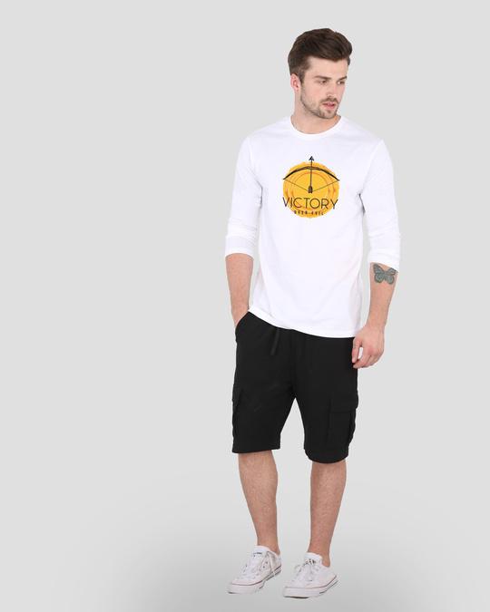 Shop Victory Over Evil Full Sleeve T-Shirt White-Design