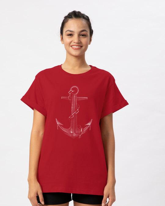 Shop Vintage Anchor Boyfriend T-Shirt-Front