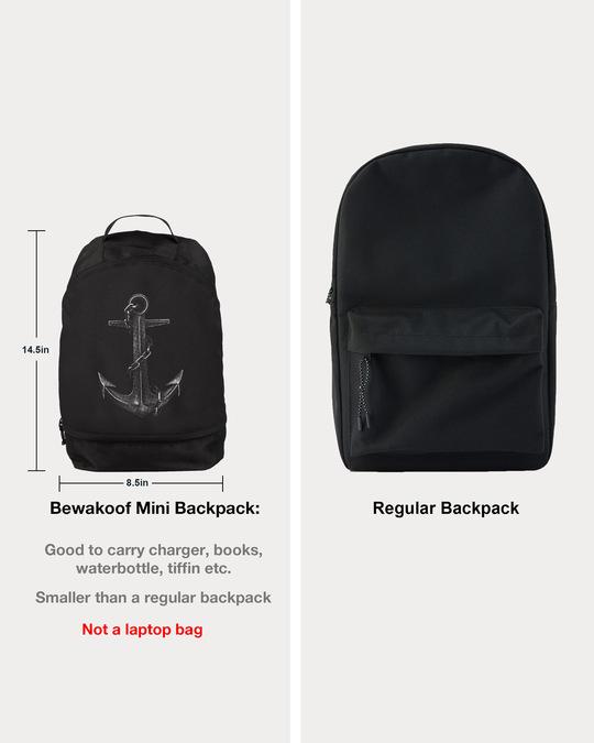 Shop Vintage Anchor Essential mini Backpack-Full
