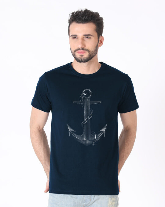 Shop Vintage Anchor Half Sleeve T-Shirt-Back