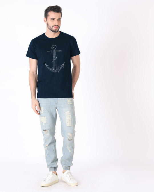 Shop Vintage Anchor Half Sleeve T-Shirt