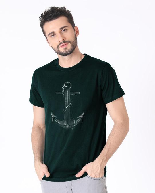 Shop Vintage Anchor Half Sleeve T-Shirt-Full