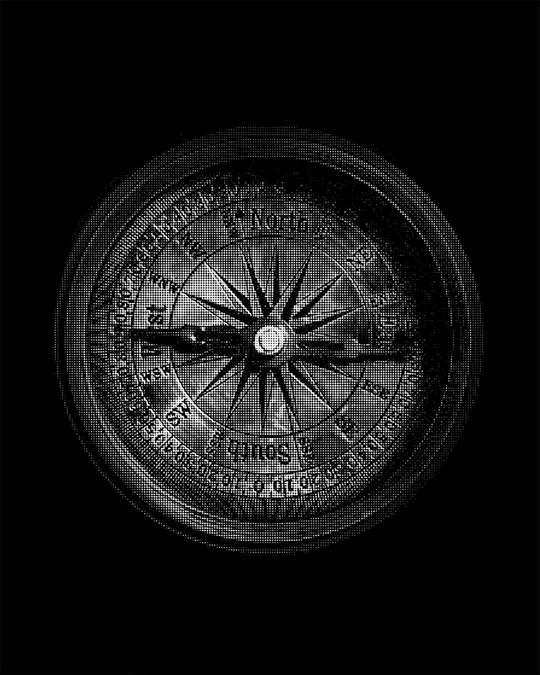 Shop Vintage Compass Full Sleeve T-Shirt