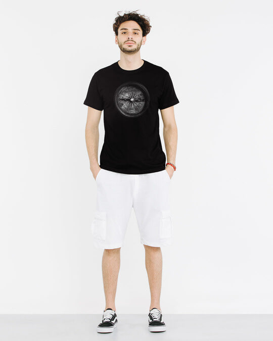 Shop Vintage Compass Half Sleeve T-Shirt