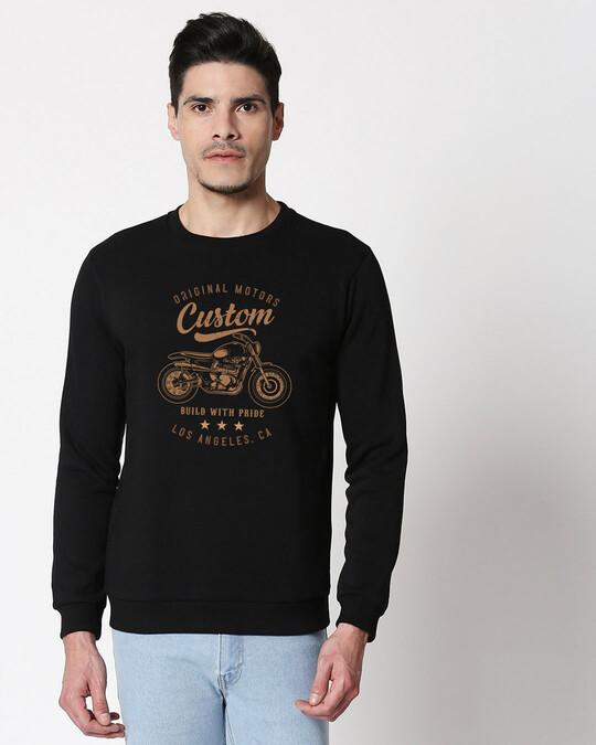 Shop Vintage Custom Fleece Sweater Black-Front