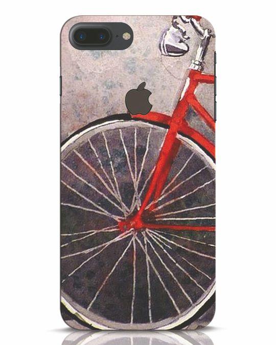 Shop Vintage Cycle iPhone 7 Plus Logo Cut Mobile Cover-Front
