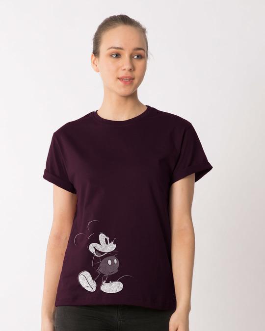 Shop Vintage Mickey Boyfriend T-Shirt (DL)-Front