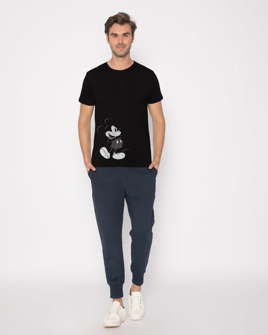 Shop Vintage Mickey Half Sleeve T-Shirt (DL)