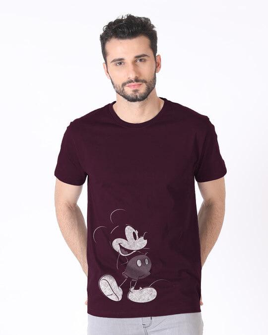 Shop Vintage Mickey Half Sleeve T-Shirt (DL)-Back