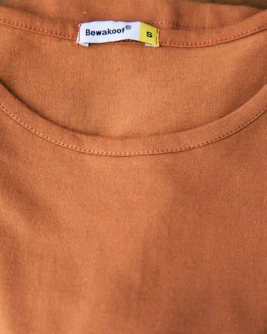 Shop Vintage Orange Boat Neck 3/4th Sleeve Dress