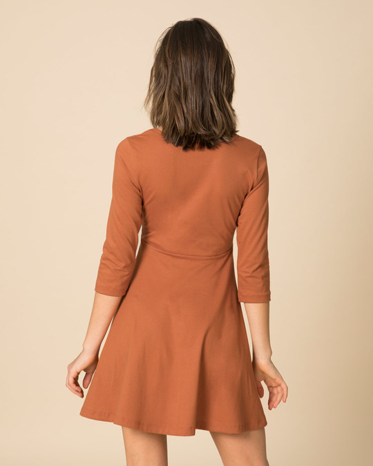 Shop Vintage Orange Flared Dress