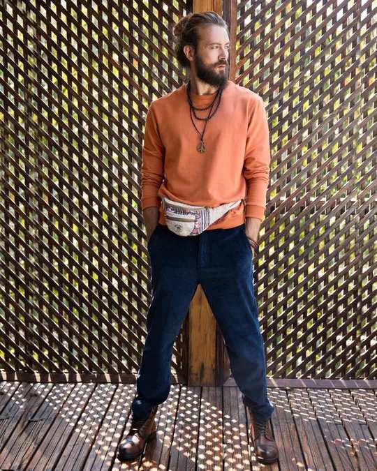 Shop Vintage Orange Fleece Sweater-Full