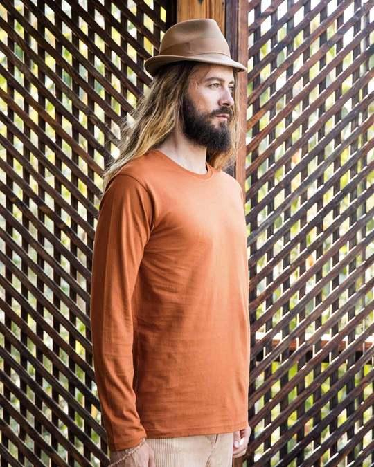 Shop Vintage Orange Full Sleeve T-Shirt-Back