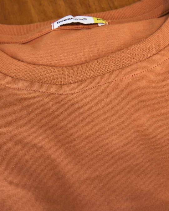 Shop Vintage Orange Half Sleeve T-Shirt