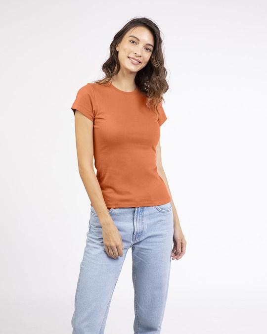 Shop Vintage Orange Half Sleeve T-shirt-Front