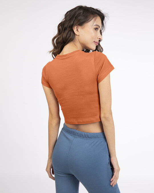 Shop Vintage Orange Crop Top T-Shirt-Design