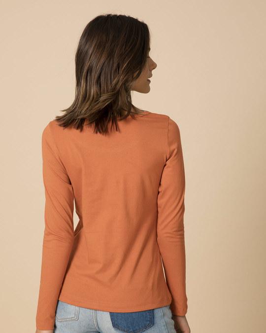 Shop Vintage Orange Scoop Neck Full Sleeve T-Shirt
