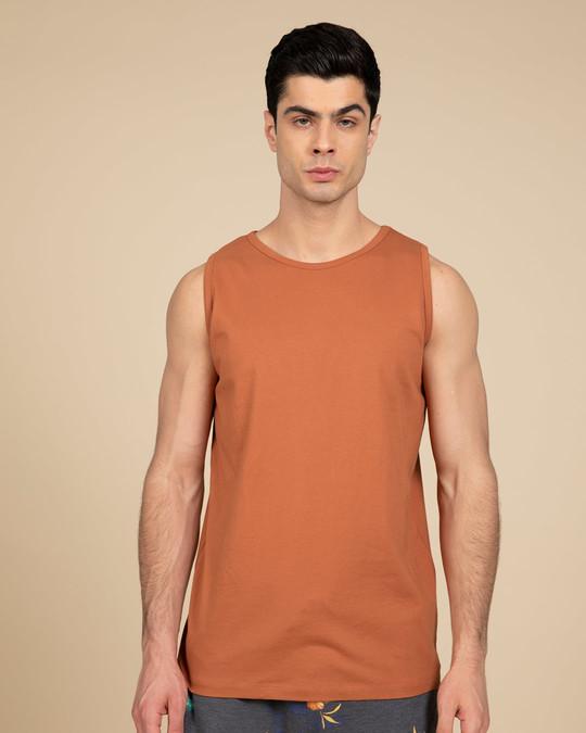 Shop Vintage Orange Vest-Front