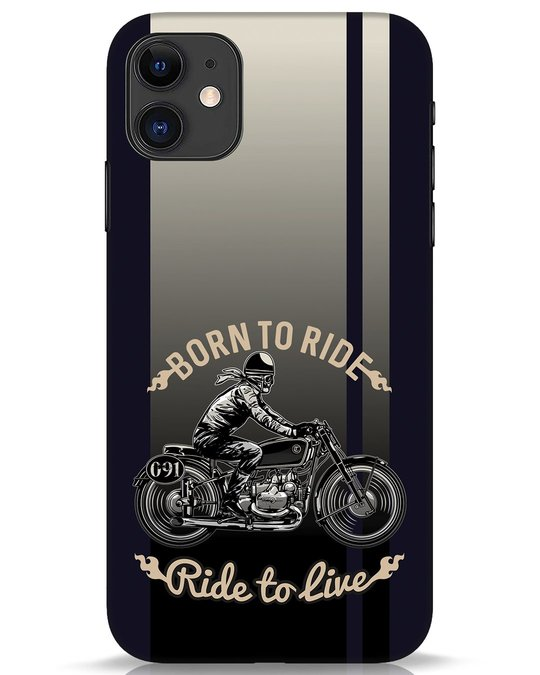 Shop Vintage Rider iPhone 11 Mobile Cover-Front