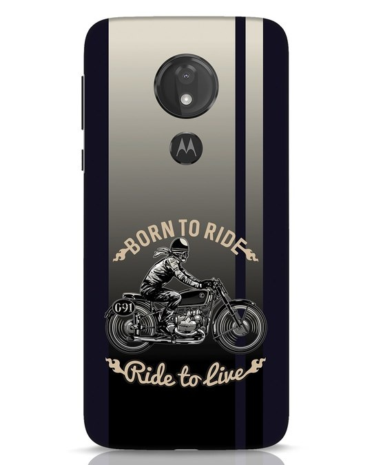 Shop Vintage Rider Moto G7 Power Mobile Cover-Front