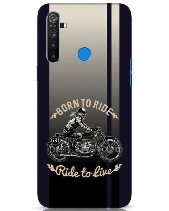 Shop Vintage Rider Realme 5 Mobile Cover-Front