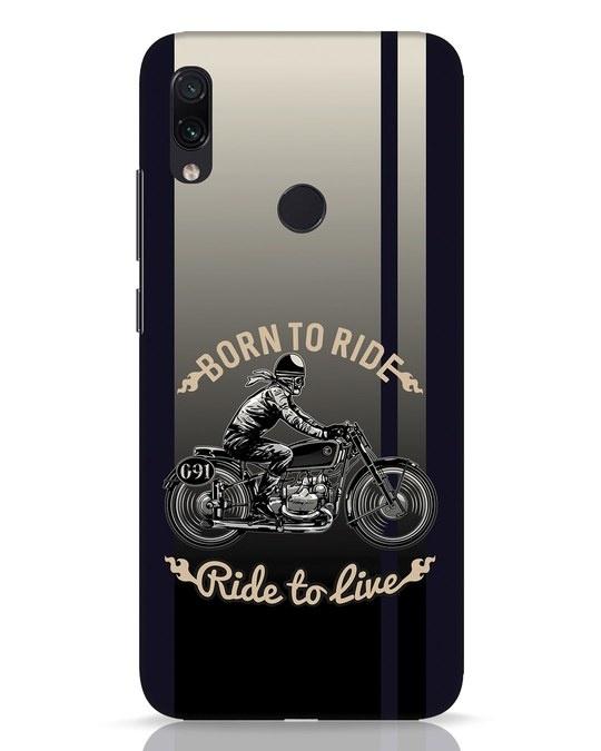 Shop Vintage Rider Xiaomi Redmi Note 7 Pro Mobile Cover-Front