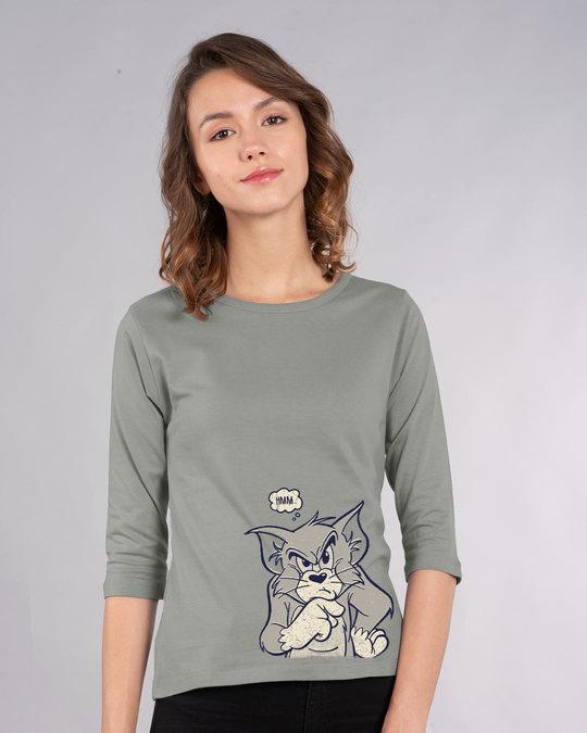 Shop Vintage Tom Round Neck 3/4th Sleeve T-Shirt (TJL)-Front